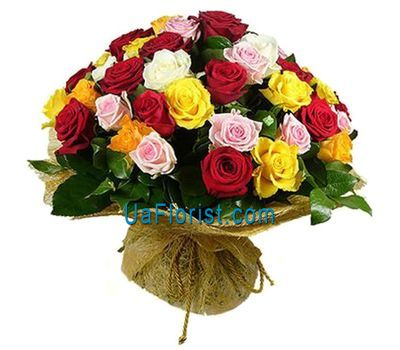 """55 multicolored roses"" in the online flower shop uaflorist.com"