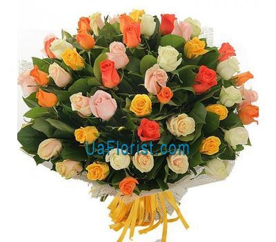"""51 multicolored rose"" in the online flower shop uaflorist.com"