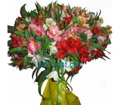 """A bunch of flowers from 19 alstroemerias"" in the online flower shop uaflorist.com"