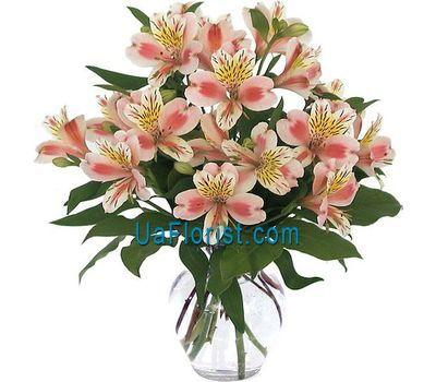 """A bunch of 9 alstroemerias"" in the online flower shop uaflorist.com"