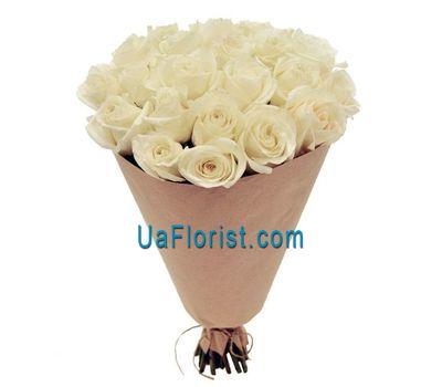 """23 white roses"" in the online flower shop uaflorist.com"