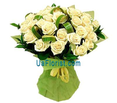 """31 white rose"" in the online flower shop uaflorist.com"