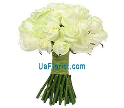 """25 white roses"" in the online flower shop uaflorist.com"