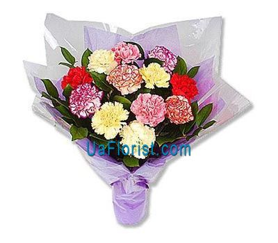 """Bouquet of flowers from 13 carnations"" in the online flower shop uaflorist.com"