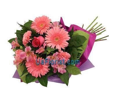 """Bouquet of 3 gerberas, 3 alstroemerias, 3 carnations and 1 rose"" in the online flower shop uaflorist.com"
