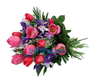 """A bouquet of spring flowers from 21 flowers"" in the online flower shop uaflorist.com"