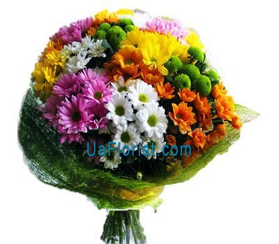 """""""A bunch of flowers of 19 chrysanthemums"""" in the online flower shop uaflorist.com"""