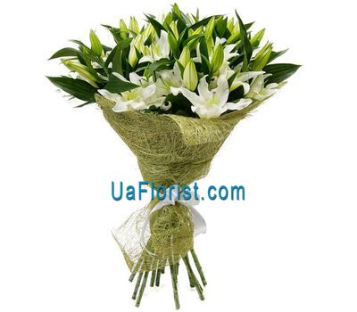 """Bouquet of 15 lilies of flowers"" in the online flower shop uaflorist.com"
