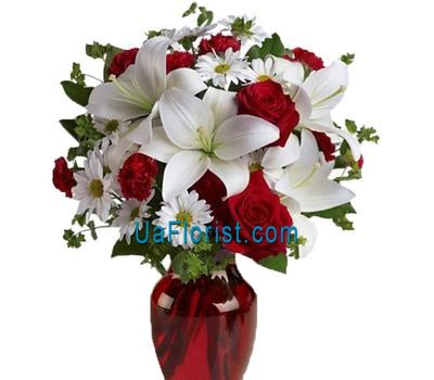"""""""Bouquet of flowers to New Year"""" in the online flower shop uaflorist.com"""
