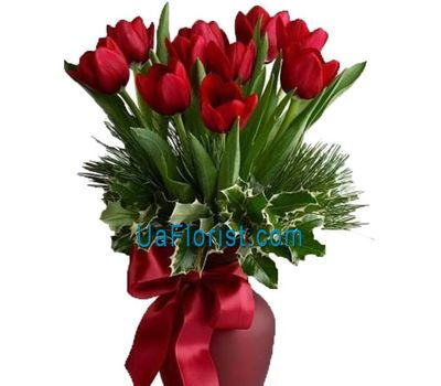 """A bunch of flowers from tulips to New Year"" in the online flower shop uaflorist.com"