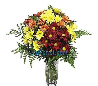 """Bouquet of flowers from 9 chrysanthemums"" in the online flower shop uaflorist.com"