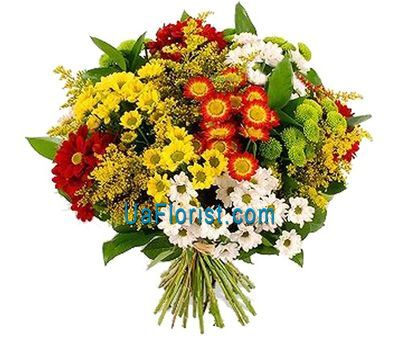 """Bouquet of flowers from 13 chrysanthemums"" in the online flower shop uaflorist.com"