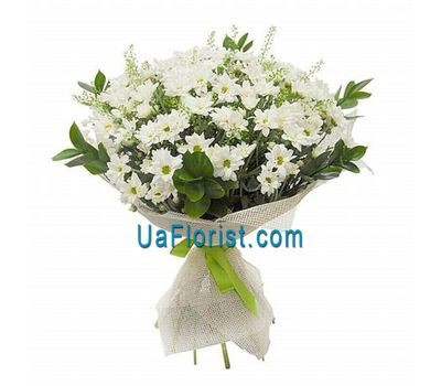"""Bouquet of flowers from 15 chrysanthemums"" in the online flower shop uaflorist.com"