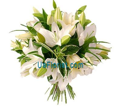 """""""A bunch of flowers from 11 lilies"""" in the online flower shop uaflorist.com"""