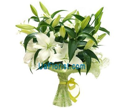"""Bouquet of flowers from 7 lilies"" in the online flower shop uaflorist.com"