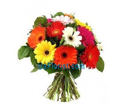 """Bouquet of flowers from 15 gerberas"" in the online flower shop uaflorist.com"
