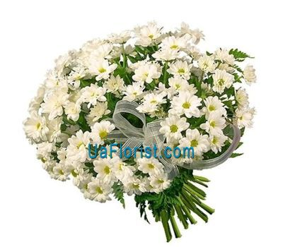 """19 white chamomile chrysanthemums"" in the online flower shop uaflorist.com"