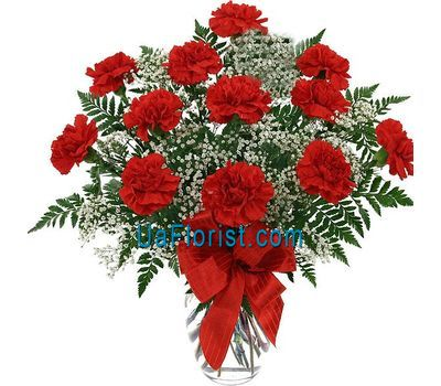 """Bouquet of flowers from 15 carnations"" in the online flower shop uaflorist.com"