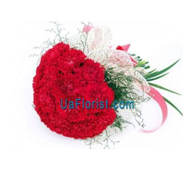 """Bouquet of flowers from 35 carnations"" in the online flower shop uaflorist.com"