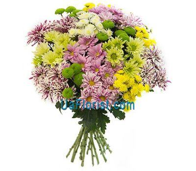 """Bouquet of 19 chrysanthemums"" in the online flower shop uaflorist.com"
