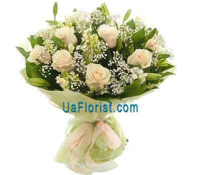 """11 roses and 6 alstroemerias"" in the online flower shop uaflorist.com"