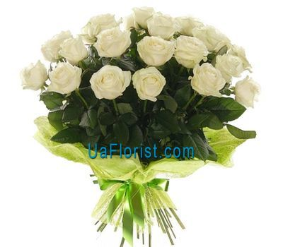 """21 white roses"" in the online flower shop uaflorist.com"