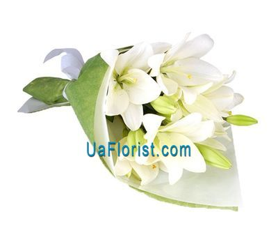 """A bouquet of 3 lily flowers"" in the online flower shop uaflorist.com"