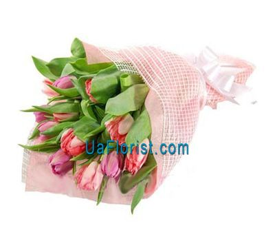 """Bouquet of 15 tulips"" in the online flower shop uaflorist.com"