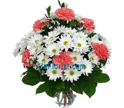 """""""Букет із 6 хризантем і 7 ??гвоздик"""" в интернет-магазине цветов uaflorist.com"""