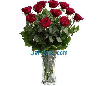 """""""11 роз с вазой"""" в интернет-магазине цветов uaflorist.com"""