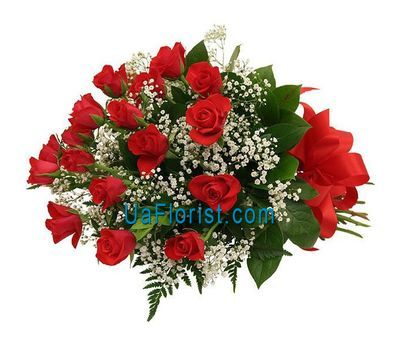 """Bouquet of 21 red roses"" in the online flower shop uaflorist.com"
