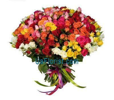 """A bunch of 101 bush roses"" in the online flower shop uaflorist.com"