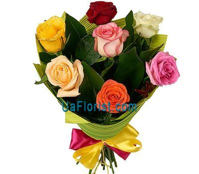 """7 roses with design"" in the online flower shop uaflorist.com"