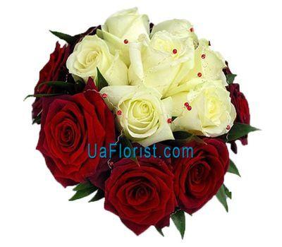 """17 multicolored roses"" in the online flower shop uaflorist.com"