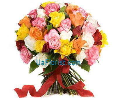 """41 multicolored rose"" in the online flower shop uaflorist.com"