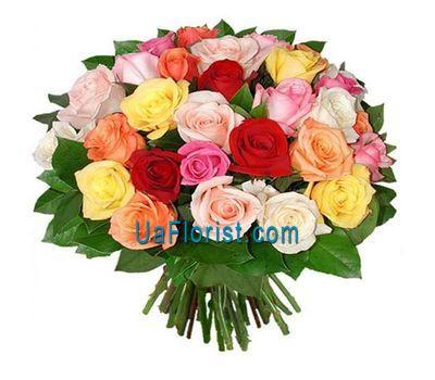 """""""31 разноцветная роза"""" в интернет-магазине цветов uaflorist.com"""