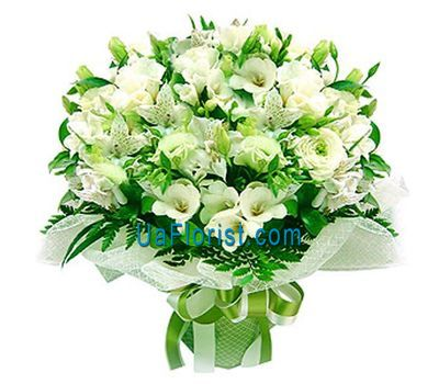 """Bouquet of roses and alstromeries"" in the online flower shop uaflorist.com"
