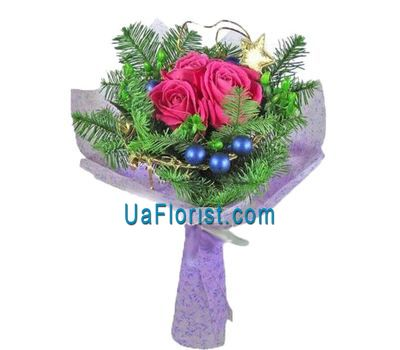 """Bouquet of roses for the New Year 2020"" in the online flower shop uaflorist.com"