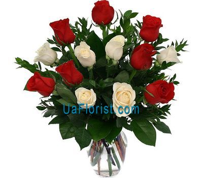 """13 multicolored roses"" in the online flower shop uaflorist.com"