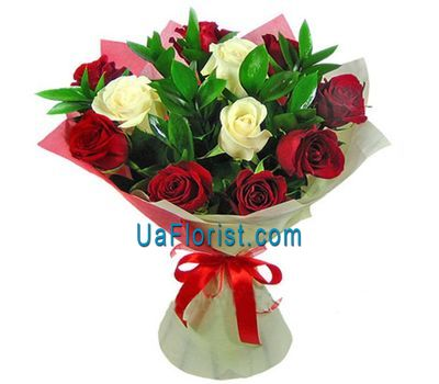 """11 roses decorated"" in the online flower shop uaflorist.com"