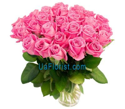 """33 pink roses"" in the online flower shop uaflorist.com"