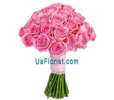 """27 pink roses"" in the online flower shop uaflorist.com"