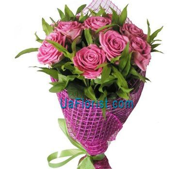 """9 pink roses"" in the online flower shop uaflorist.com"