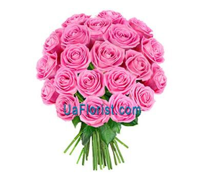 """23 pink roses"" in the online flower shop uaflorist.com"