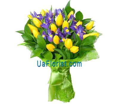 """A bouquet of 19 tulips and 10 irises"" in the online flower shop uaflorist.com"