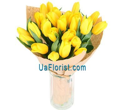 """A bouquet of 21 yellow tulips"" in the online flower shop uaflorist.com"