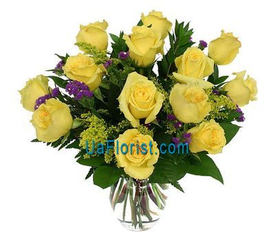"""13 yellow roses"" in the online flower shop uaflorist.com"