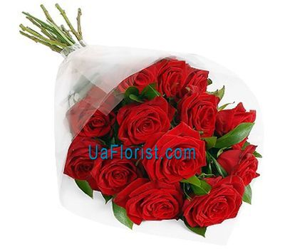 """13 red roses decorated"" in the online flower shop uaflorist.com"