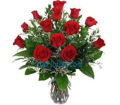 """13 red roses"" in the online flower shop uaflorist.com"