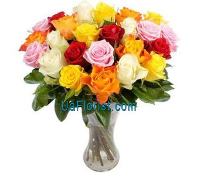 """21 multicolored rose"" in the online flower shop uaflorist.com"